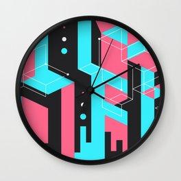 Flat Geometry Wall Clock
