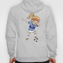 Dabbing Soccer Player Funny Australia Fan design girl Hoody