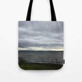 Storm Clouds at the Bay Tote Bag