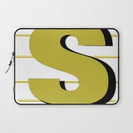 Cash $ Dollar // Transparent Gold Stripes Background 2 Laptop Sleeve