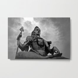 Shiva's Storm Metal Print