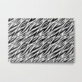 Siberian Tiger stripes pattern. Vector illustration background  Metal Print