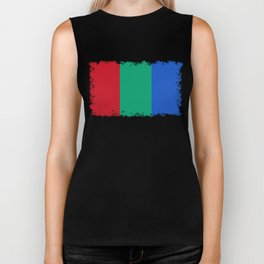 Flag of the planet Mars - Diff TEE version Biker Tank