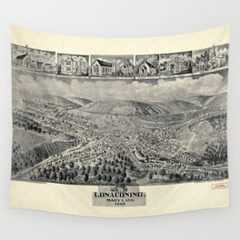 Aerial View of Lonaconing, Maryland (1905) Wall Tapestry