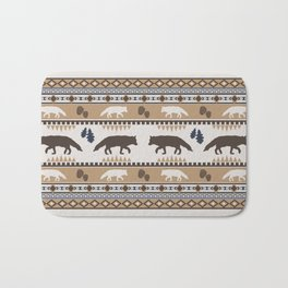 Boho animals | Autumn fox tan Bath Mat
