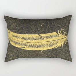 Yellow Feather Rectangular Pillow
