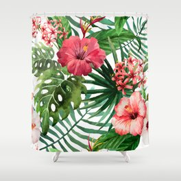 FLOWERS WATERCOLOR 8 Shower Curtain