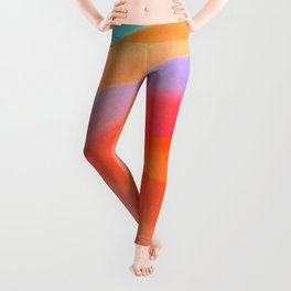 Sorbet Color Swirl Leggings