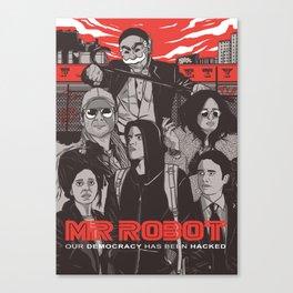 Mr Robot Illustration Canvas Print