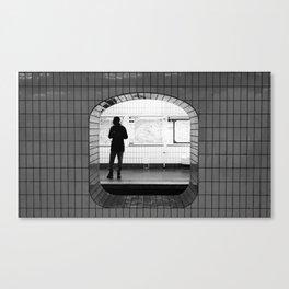 Alone in the Paris metro Canvas Print