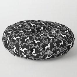 Miniature Pinscher doberman pinscher dog breed pure breed floral dog silhouette Floor Pillow