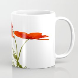 Delicate Red Poppies Vector Coffee Mug