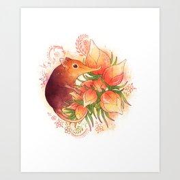 Pollinator Animals- Elephant Shrew Art Print