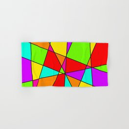 Neon Stained Glass Hand & Bath Towel