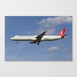 Turkish Delight Airlines Airbus A321 Canvas Print