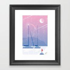 Illustre Conero - Falling Stars Framed Art Print