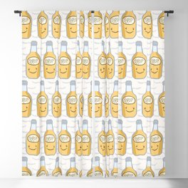 Cute bottle of golden syrup vector illustration. Blackout Curtain
