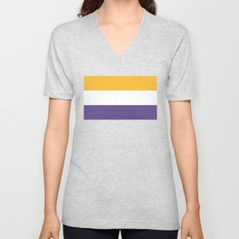 Women's Suffrage Flag Unisex V-Neck