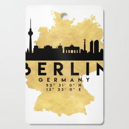 BERLIN GERMANY SILHOUETTE SKYLINE MAP ART Cutting Board