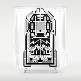 Monolith - Art Deco Design Shower Curtain