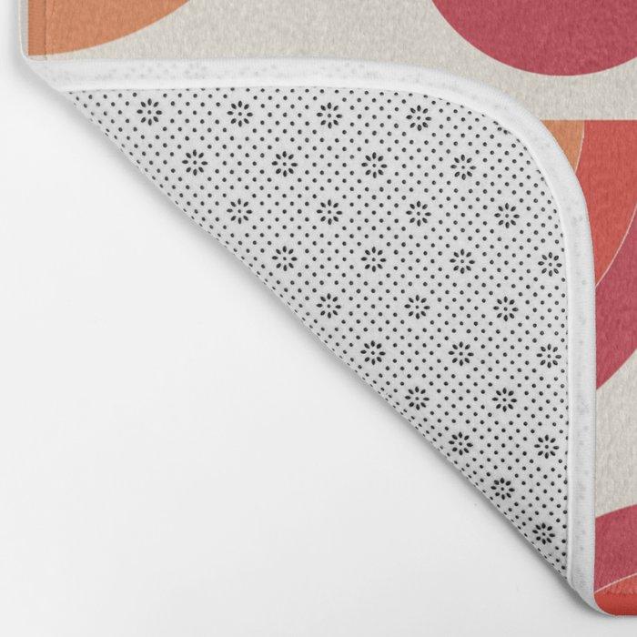 Boogie - abstract retro minimalist 70s 1970s style pattern art 70's 1970's Bath Mat