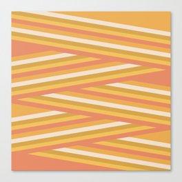 stripey sunny square Canvas Print