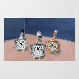 Three cats Rug