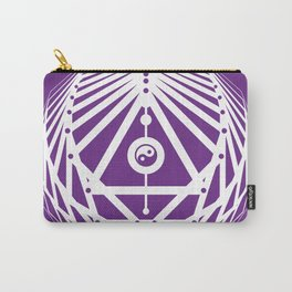 Radiant Abundance (white-purple) Carry-All Pouch