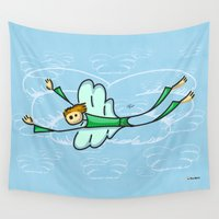 angel Wall Tapestries featuring Angel by Giuseppe Lentini