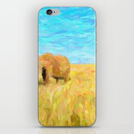 abstract elephants herd iPhone Skin