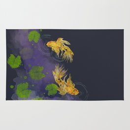 Dark Golden Waters Rug