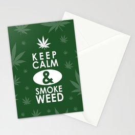"""Keep Calm and Smoke Weed"" Stationery Cards"