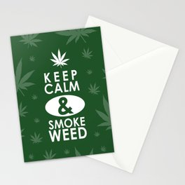 """Keep Calm and Smoke Weed"" Stationery Cards"