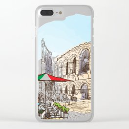 Sketches from Italy - Verona Clear iPhone Case