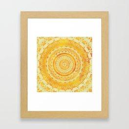 Sun Mandala 4 Framed Art Print