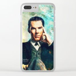 Man Out Of His Time Clear iPhone Case