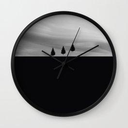 Floating Trees Wall Clock