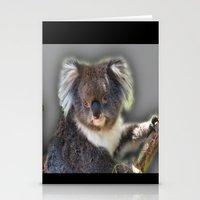 koala Stationery Cards featuring Koala by SwanniePhotoArt