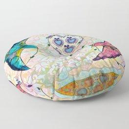 Love Birds 2 Floor Pillow