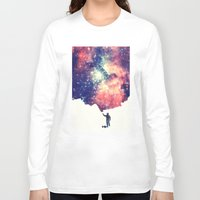 night Long Sleeve T-shirts featuring Painting the universe by badbugs_art
