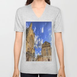 Bath Abbey And Roman Baths Unisex V-Neck