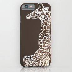 Giraffe in Brown Slim Case iPhone 6s