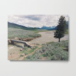 Soda Butte Creek Bridge Metal Print