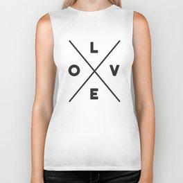 LOVE Criss-cross Biker Tank