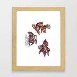 pez // pastel swimming or floating goldfish Framed Art Print