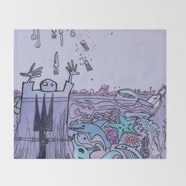 THE COAST OF OKLAHOMA Throw Blanket