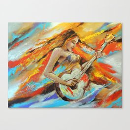 Lady with Guitar  Canvas Print