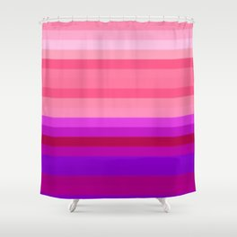 Re-Created Spectrum LXIX by Robert S. Lee Shower Curtain