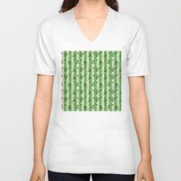 Stripes & Shells - green Unisex V-Neck