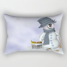 Little Snowman Rectangular Pillow